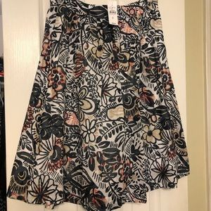 Brand new floral patterned skirt from Loft!